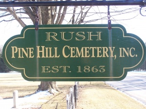 Pine Hill Cemetery - old sign